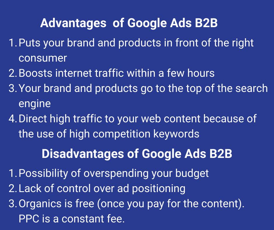 Advantages and Disadvantages of Google Ads B2B